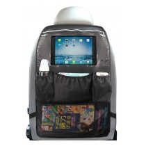 "Car Back Seat Organizer with Touch Screen Tablet Holder Pocket up to 10.5"" for Kids"