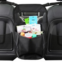 Car Back Seat Organizer for Traveling with Kids and Toddlers + Dog Backseat Barrier, Adjustable Divider Fence to Keep Driver Safety